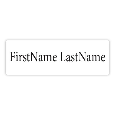 1 x 3 Name Tag Text Only